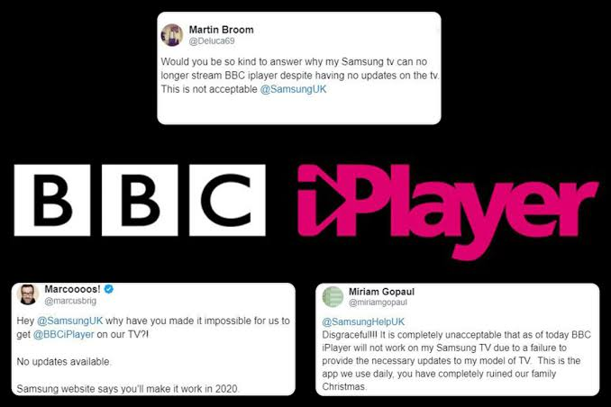 BBC iPlayer stops working on some Samsung TVs
